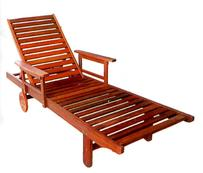TIVERIAN RED SHOREA SUNLOUNGE WITH ARMS