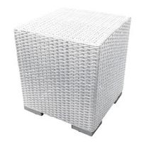 STOOL WICKER EXCLUSIVE WHITE
